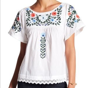 New English Factory Embroidered Sleeveless Top XS